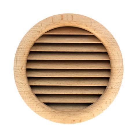 Grille ventilation ronde bois à encastrer Ø110