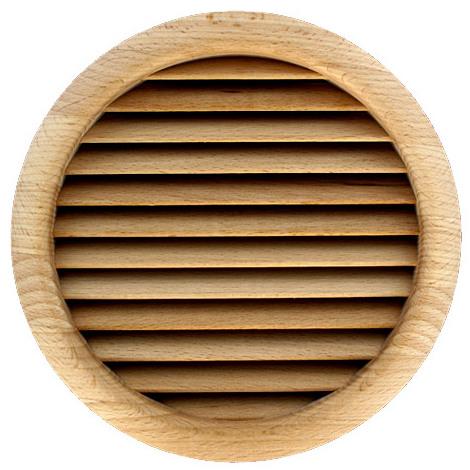 Grille ventilation ronde bois à encastrer Ø172