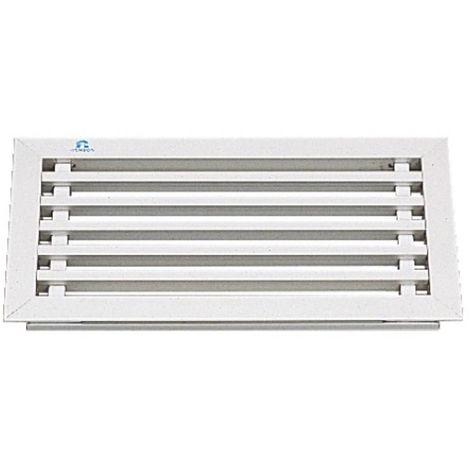 Grilles cache-radiateur 394 aluminium anodisé naturel - profil cadre longueur 3m