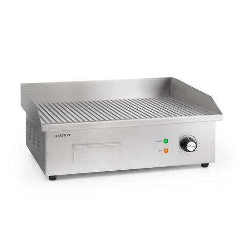 Grillmeile 3000R Pro barbecue électrique 3000 W plaque de cuisson rainurée 54.5 x 35cm
