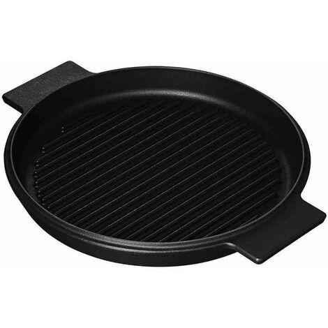 Grillplatte 28cm Grillen BBQ Küchenhelfer Kochutensilien Braten Kochen Garen NEU