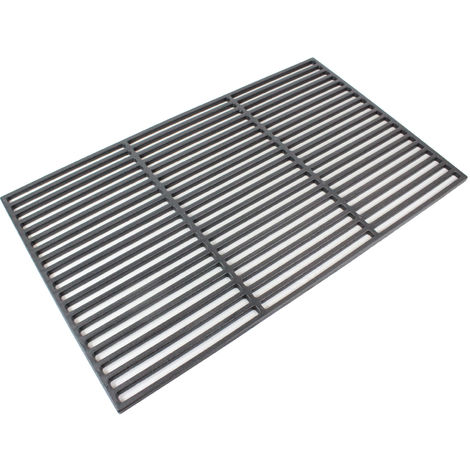 Grillrost 67x40cm Rost Grillgitter BBQ Gusseisen emailliert Grillplatte rechteckig