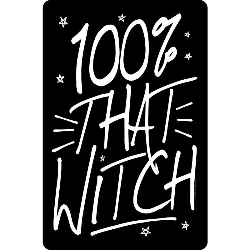 Image of 100% That Witch Plaque (One Size) (Black) - Grindstore