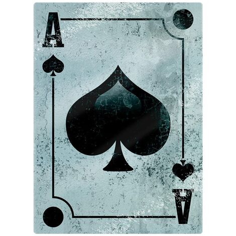 Grindstore Ace Of Spades Glass Chopping Board (One Size) (Black/Light Blue)