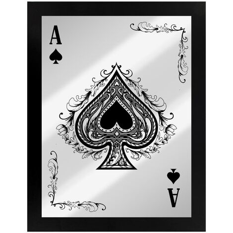 Grindstore Ace Of Spades Mirrored Plaque (One Size) (Black/Silver)