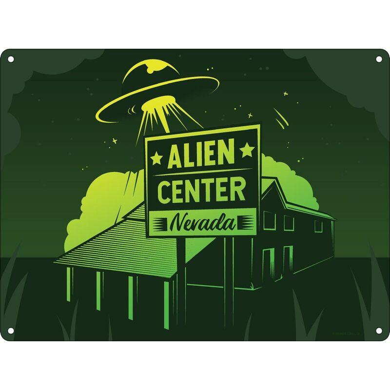 Image of Alien Center Plaque (One Size) (Green) - Grindstore
