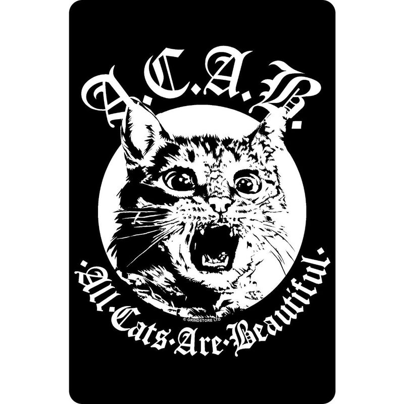 Image of All Cats Are Beautiful Plaque (One Size) (Black/White) - Grindstore