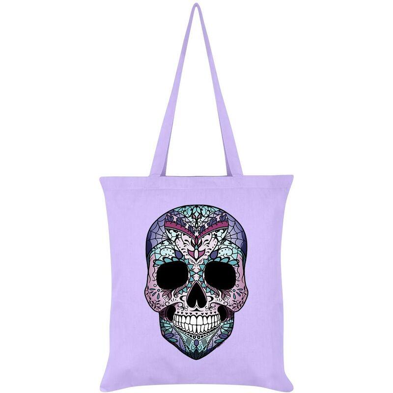 Image of Amaranthine Sugar Skull Tote Bag (One Size) (White) - Grindstore