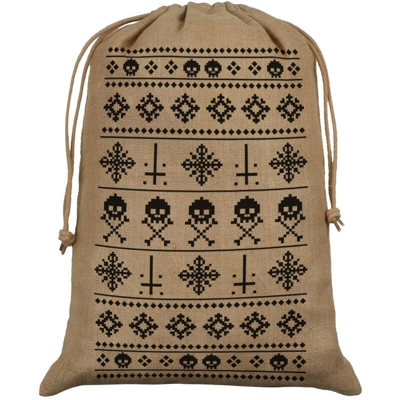 Image of Anti-Christmas Hessian Santa Sack (One Size) (Brown) - Grindstore