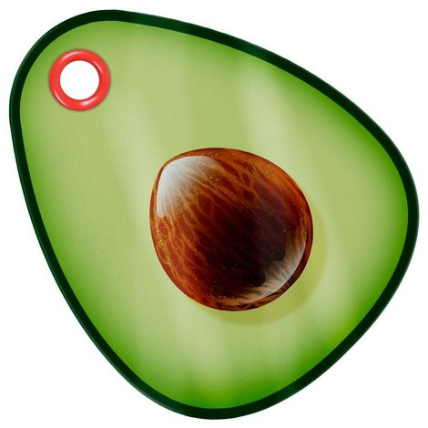 Grindstore Avocado Glass Chopping Board (One Size) (Green)