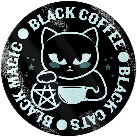 Grindstore Black Cats Black Magic Black Coffee Chopping Board (One Size) (Black)