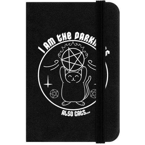 Grindstore I Am The Darkness Also Cats Mini Notebook (One Size) (Black/White)