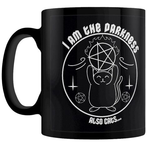 Grindstore I Am The Darkness Also Cats Mug (One Size) (Black)
