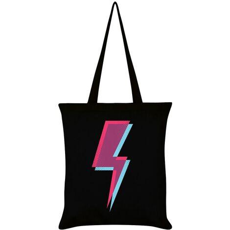 Grindstore Lightning Bolt Tote Bag (One Size) (Black)