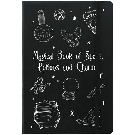 Grindstore Magical Book Of Spells A5 Notebook (A5) (Black/White)