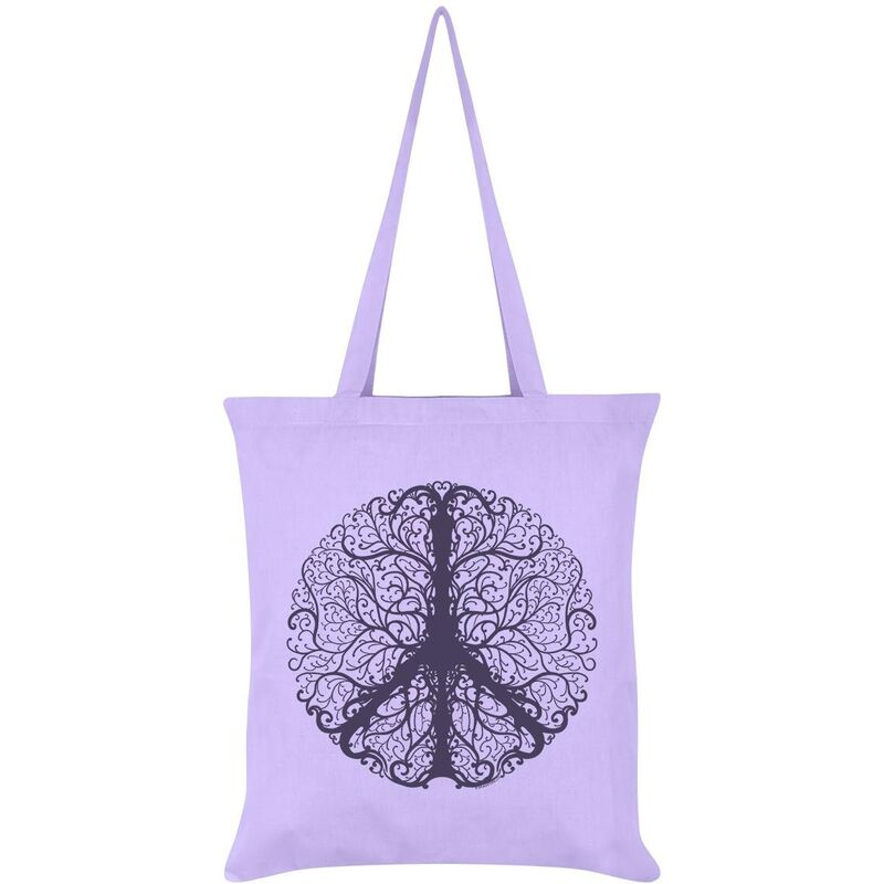 Image of Grindstore Peaceful Tree Of Life Tote Bag (One Size) (Lilac)