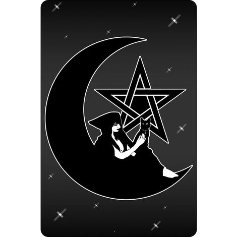 Grindstore Pentagram Witch Plaque (One Size) (Black)