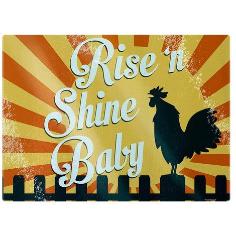 Grindstore Rise ´N Shine Baby Glass Chopping Board (One Size) (Yellow)