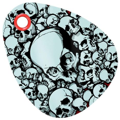 Grindstore Skullery Glass Chopping Board (One Size) (White)