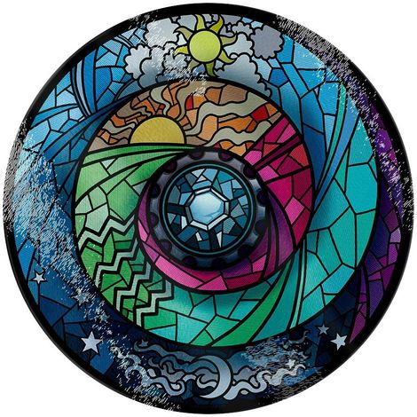 Grindstore Stained Glass Spectroscope Glass Chopping Board (One Size) (Multicoloured)