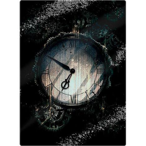 Grindstore Steampunk Timekeeper Glass Chopping Board (One Size) (Black)