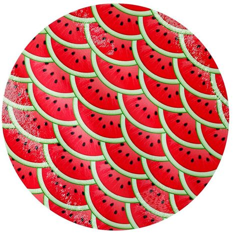 Grindstore Watermelon Slices Circular Glass Chopping Board (One Size) (Red)