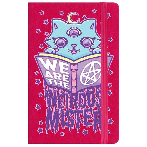 Grindstore We Are The Weirdos Mister A6 Notebook (One Size) (Pink)