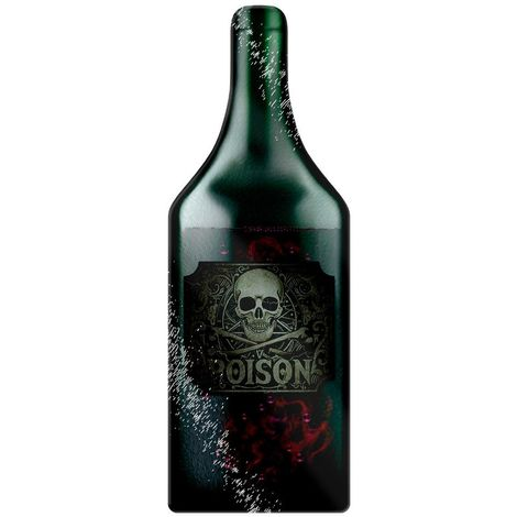 Grindstore What`s Your Poison Bottle Shaped Glass Chopping Board (One Size) (Green)