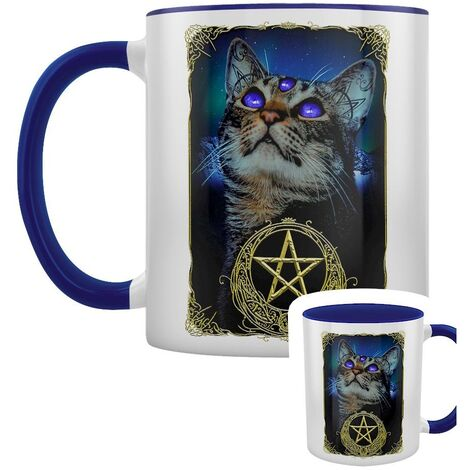 Grindstore Witchy Familiar Two Tone Mug (One Size) (Blue/White)