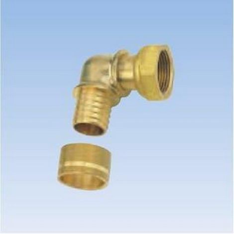 Gripp - Elbow floating nut Brass R