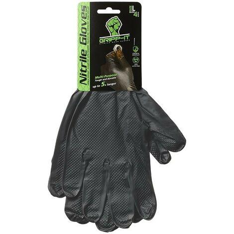 Gripp-It gants en nitrile L 4 pièces sur carte