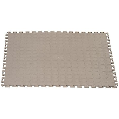 Dalle clipsable en PP (point rond) - Gris clair 50 x 50 cm - Gris clair