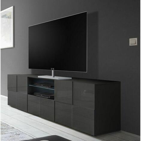 Gris Meuble TV design 181 cm Milenor Gris
