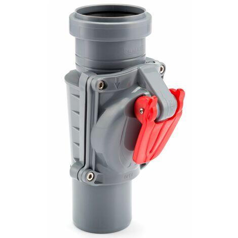 Gris Verticale Soupape Anti Inondation Protection Dispositif 50mm Diamètre