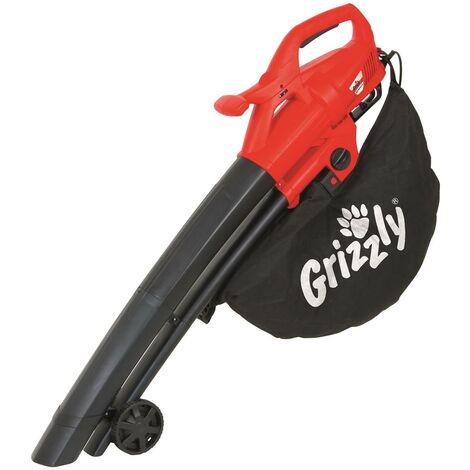Grizzly Aspirateur de feuilles électrique EL 2800, 3 en 1 aspirateur, souffleur broyeur, vitesse de soufflage jusqu'à 270 km/h, puissance 2800 W