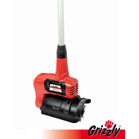 Grizzly brosse universelle universelle de nettoyage électrique ERB 550 pour bois, WPC, terrasses, élimination des mauvaises herbes et de la mousse