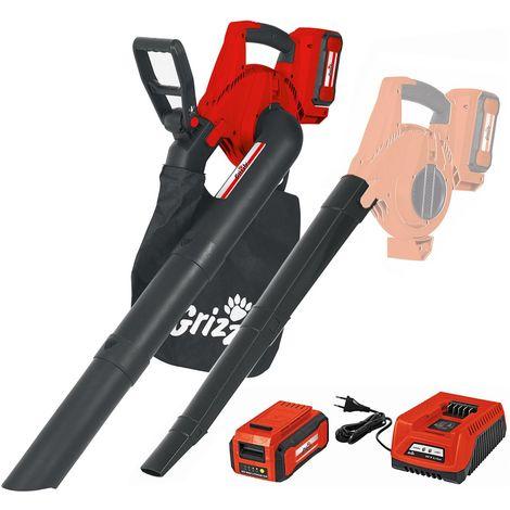 Grizzly Tools ALS 4025-2,5 Aspirateur à feuilles sur batterie / Broyeur de feuilles