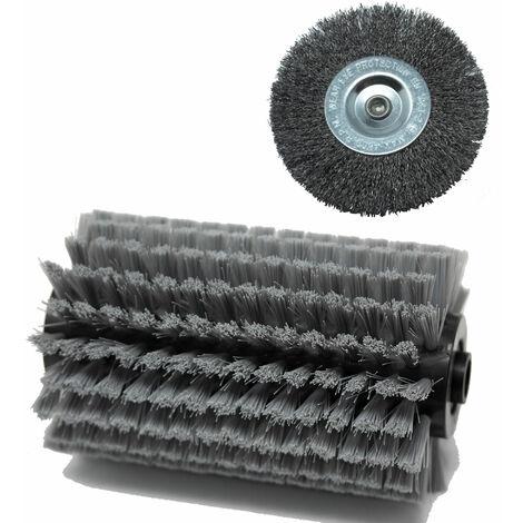 Grizzly Tools cepillo de plástico cepillo de repuesto de metal para madera de hormigón metálico