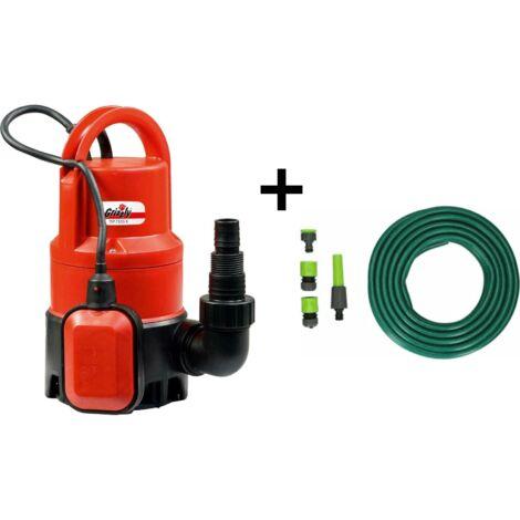 """main image of """"Grizzly Tools Grizzly Ensemble de pompe submersible pour eau usée comprenant un tuyau de 15 mètres avec pistolet et raccords"""""""