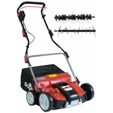 Grizzly Tools Scarificateur-aérateur électrique 2 en 1 ERV 1801-37 ZV, 1800 W - 76007208