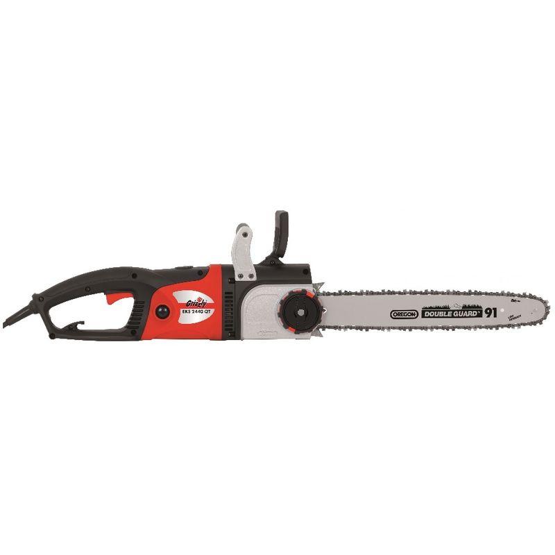 Tronçonneuse électrique Grizzly Tools EKS 2440 - Scie à chaîne de 2400 watts, longueur de lame de 40 cm, chaîne et lame Oregon, moteur longitudinal