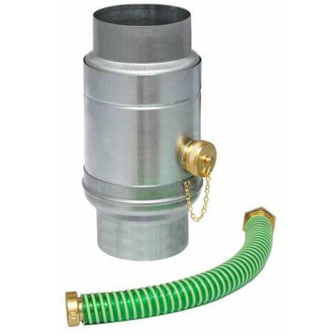 GRÖMO ZINK Wassersammler ø100 mit Schlauchpaket Regenwassersammler TITANZINK, 62678