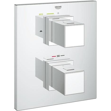 "Grohe 19958000 Grohtherm Cube Termostato para baño / ducha o ducha 3/4"" | Cromo - 2 USCITE"