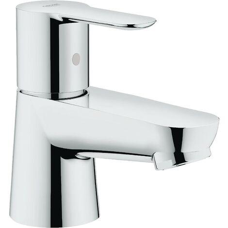 "Grohe 20421 BauEdge Single Lever Basin Mixer Pillar Tap Chrome 1/2"" XS 2042100"