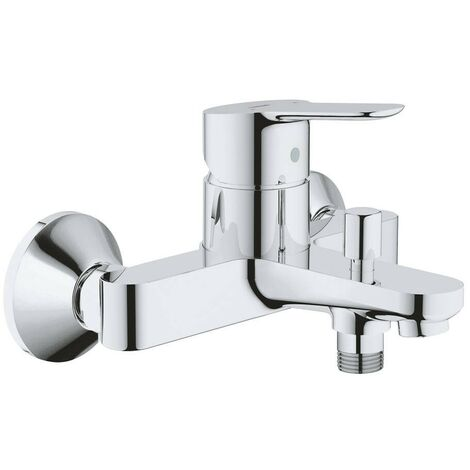 GROHE 23334000 Bau Edge Grifo para ducha y baño, con inversor automático y sistema de ahorro de agua