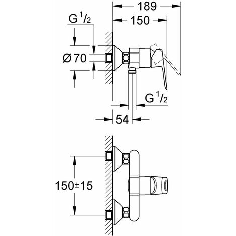 Grohe 23340000 Miscelatore Doccia Esterno Bauloop, Cromo