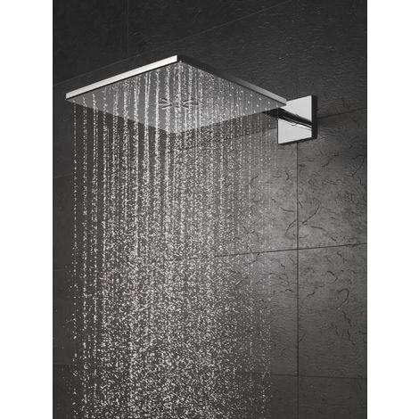 Grohe 26479000 Soffione Rainshower Cosmopolitan 310 a 2 Getti con Braccio a Parete, Cromo, 400 mm