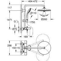 GROHE 27 475 001 Euphoria System 260 Sistema De Ducha Con Termostato Para Baño Ducha