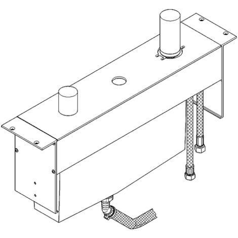 Grohe 3-hole one-hand bathtub combination Substructure for tile bench installation - 33339000
