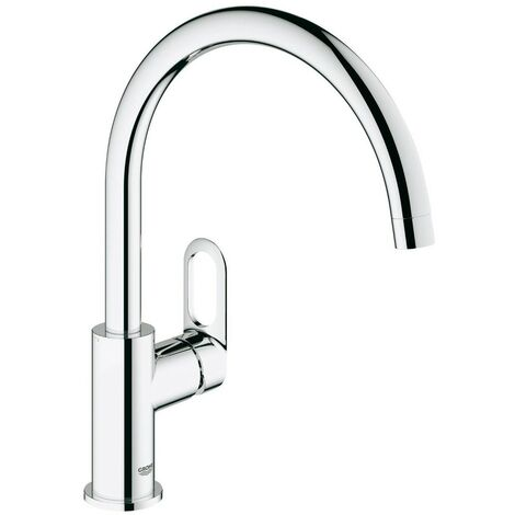 Grohe 31368 BauLoop Chrome Single Lever Kitchen Sink Mixer Tap Swivel High Spout